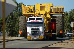 Oversized Load on Truck in Perth